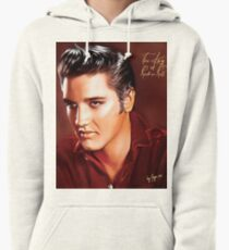 Elvis Presley Illustration The all time greatest hits. Pullover Hoodie