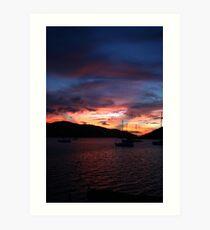 Virgin Gorda Sunset Art Print