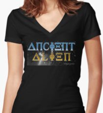 Ancient Alien Women's Fitted V-Neck T-Shirt
