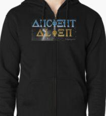 Ancient Alien Zipped Hoodie