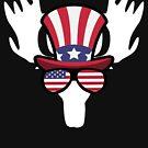 «Moose Happy 4th Of July» de GoOsiris