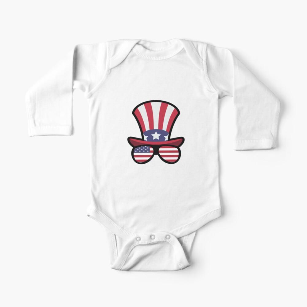 Elk Happy 4th Of July Body para bebé