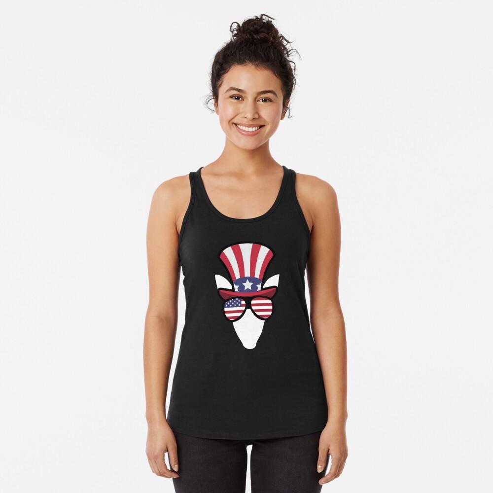 Elk Happy 4th Of July Camiseta con espalda nadadora