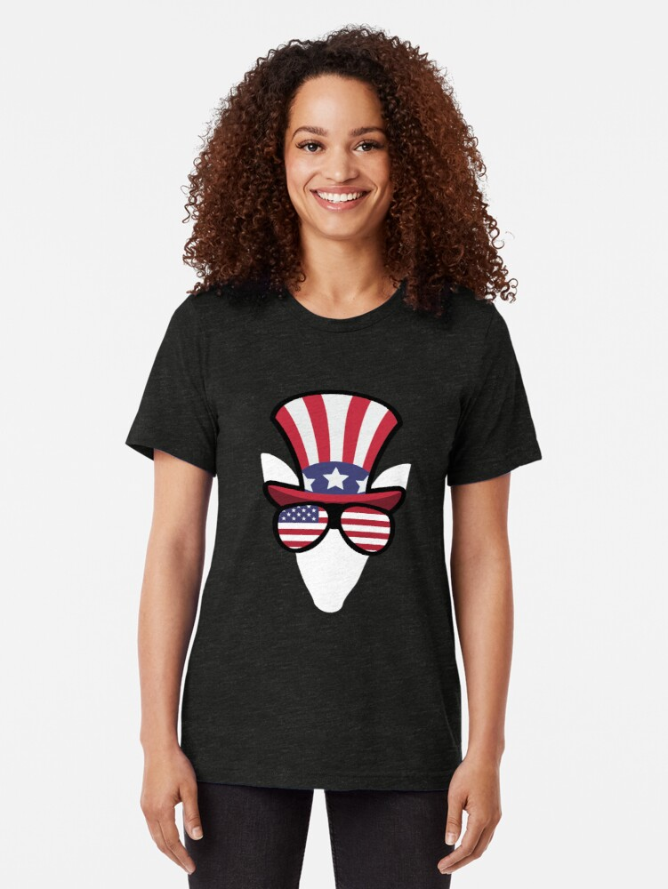 Vista alternativa de Camiseta de tejido mixto Elk Happy 4th Of July