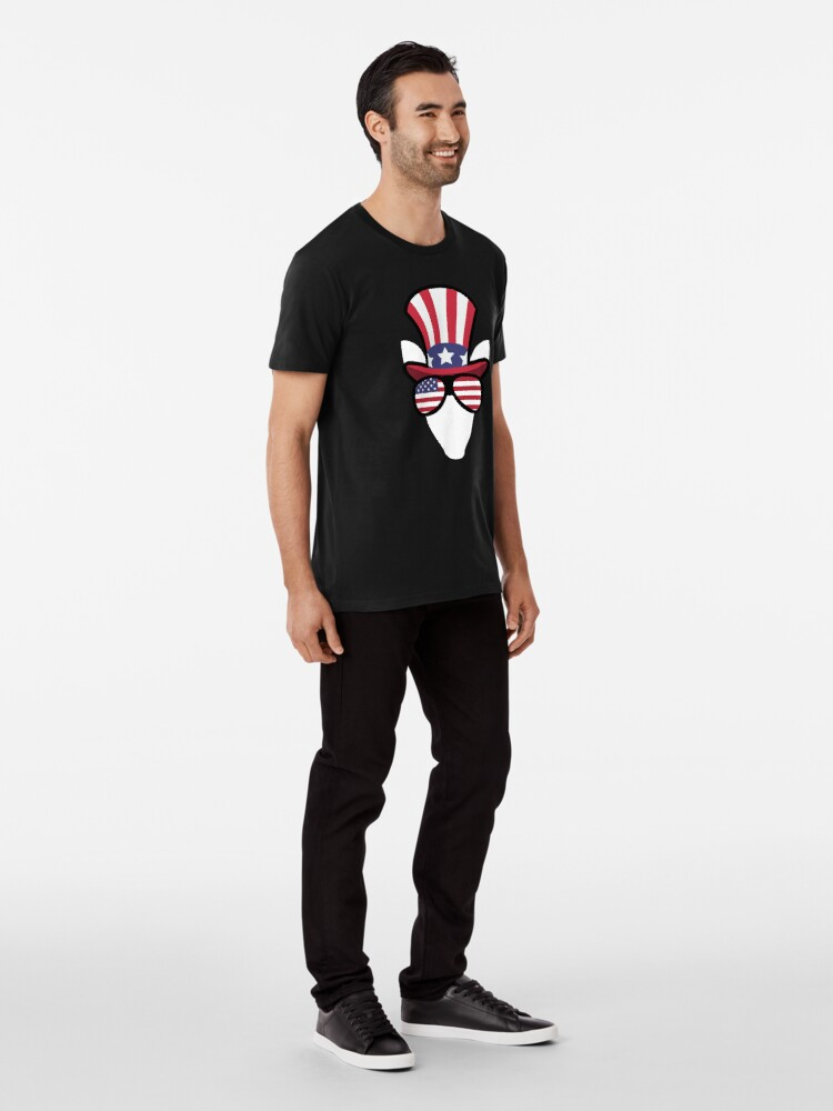 Vista alternativa de Camiseta premium Elk Happy 4th Of July