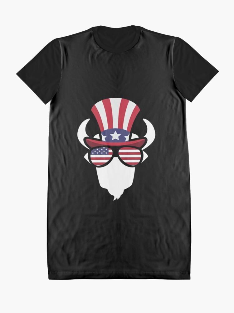 Vista alternativa de Vestido camiseta Buffalo Happy 4th Of July