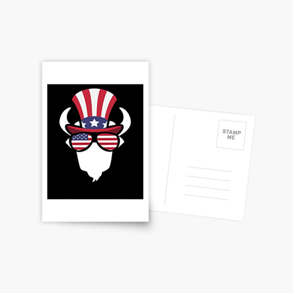 Buffalo Happy 4th Of July Postal