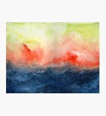 Brush Fire - Abstract Watercolor Landscape Photographic Print