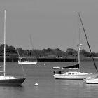 Resting little Boats b&w by henuly1