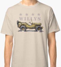 4 Star Willys - WW2  Classic T-Shirt