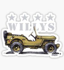 4 Star Willys - WW2  Sticker