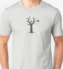 Camiseta unisex aletas en el árbol