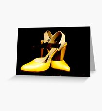 Expensive Shoes Greeting Card