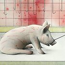 Earthlings - Pig Dragged to Slaughter by janelewisartist