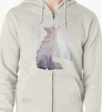 Fox in the Snow Zipped Hoodie