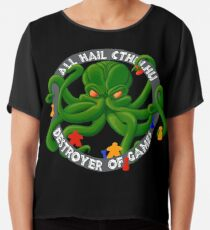 Cthulhu - Destroyer of Games Chiffon Top