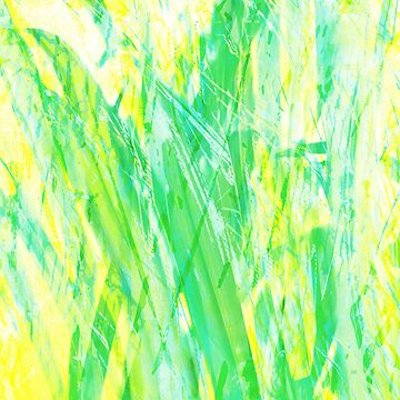 Grassy Abstract in Yellow Green Aqua White by MenegaSabidussi