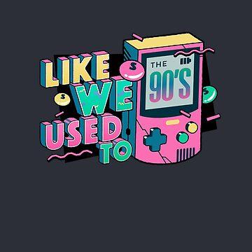 Funny Retro 90s Tshirt Like We Used to, Game Vintage Nostalgia by SABRA11