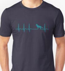 Camiseta ajustada Camiseta Heartbeat Shepherd - Cool Funny Nerdy Comic Graphic Pastor Alemán Pastor Criador de perros Humor refranes Sayings Camiseta Regalo Idea de regalo