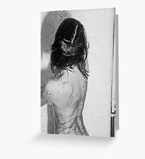 not the shower scene from pycho Greeting Card