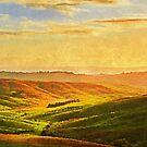 Hills of Tuscany by Andrea Mazzocchetti