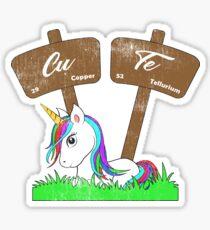 Periodic Table Unicorn Cute Sticker