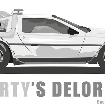Marty's Delorean (from Back to the Future) by Straedart