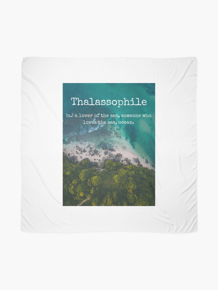 Alternate view of Beach Themed Thalassophile Products For the Beach Lover Inside You Scarf