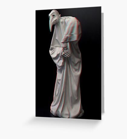 [3d Anaglyph] Plague doctor Greeting Card