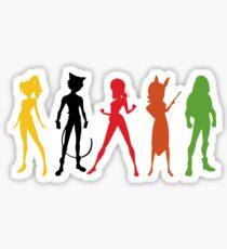 Miraculous Team Silhouettes Sticker