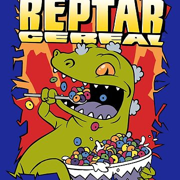 Reptar Cereal - Rugrats t-shirt tee design by spookyruthy