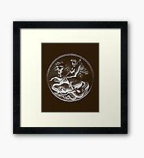 Saint George Slaying the Dragon Hagiography Framed Print