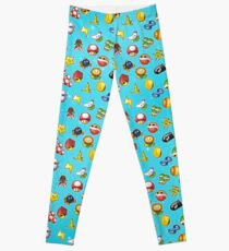 Mario Kart 8 Items Pattern Leggings