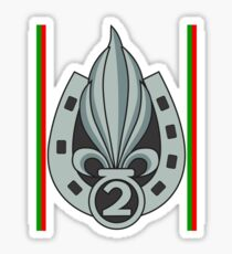 2nd Foreign Infantry Regiment - Clean Style  Sticker