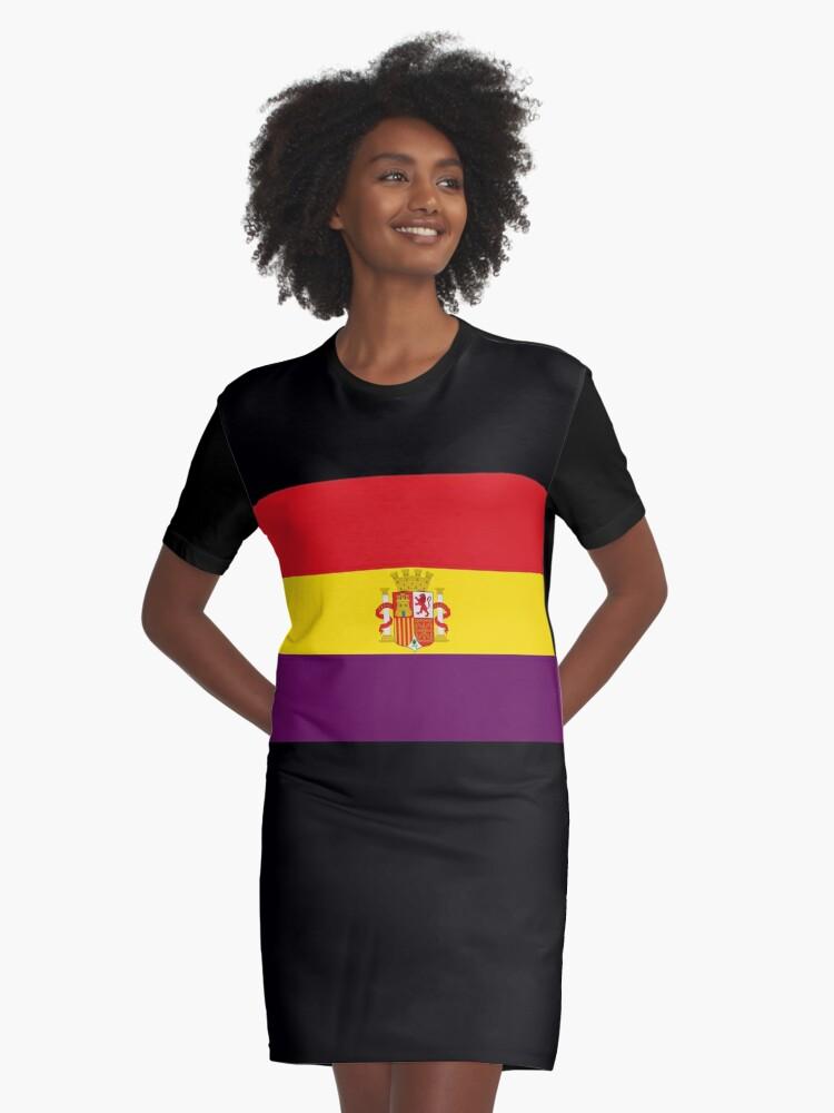 De Republicana 'bandera Bandera España' Camiseta República Vestido Martstore España uKc1T3JlF