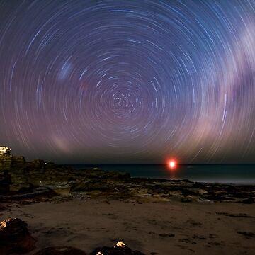 entrance point star trail  by Elliot62