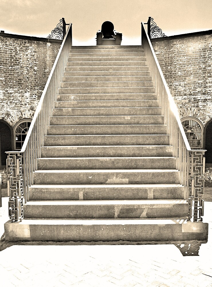 The Stairs At Fort Macon North Carolina by LisaWootenPhoto