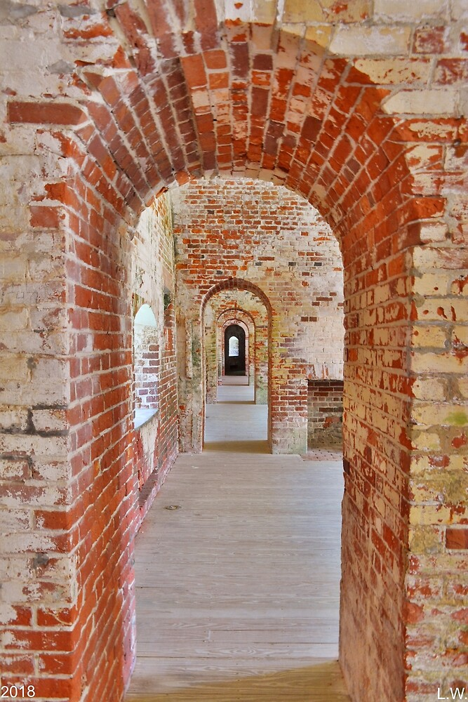 The Arches At Fort Macon North Carolina by LisaWootenPhoto