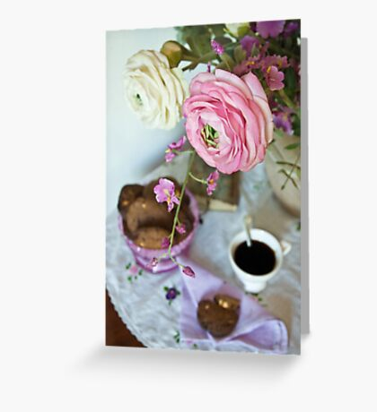 Coffee table Greeting Card
