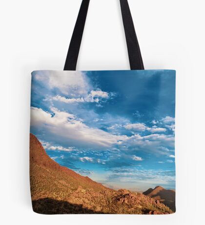 Turquoise Skies and Red Mountains Tote Bag