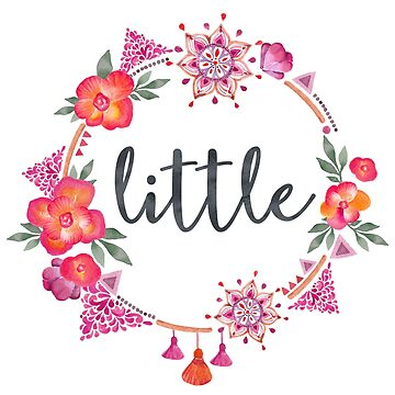 Floral Sorority Little Sister by whimseydesigns