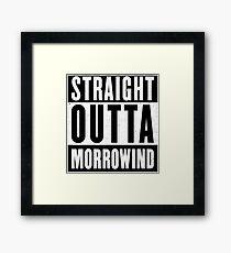 Straight Outta Morrowind Framed Print
