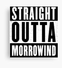 Straight Outta Morrowind Canvas Print