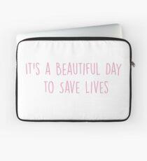 Es ist ein schöner Tag, um Leben zu retten - PINK Laptoptasche