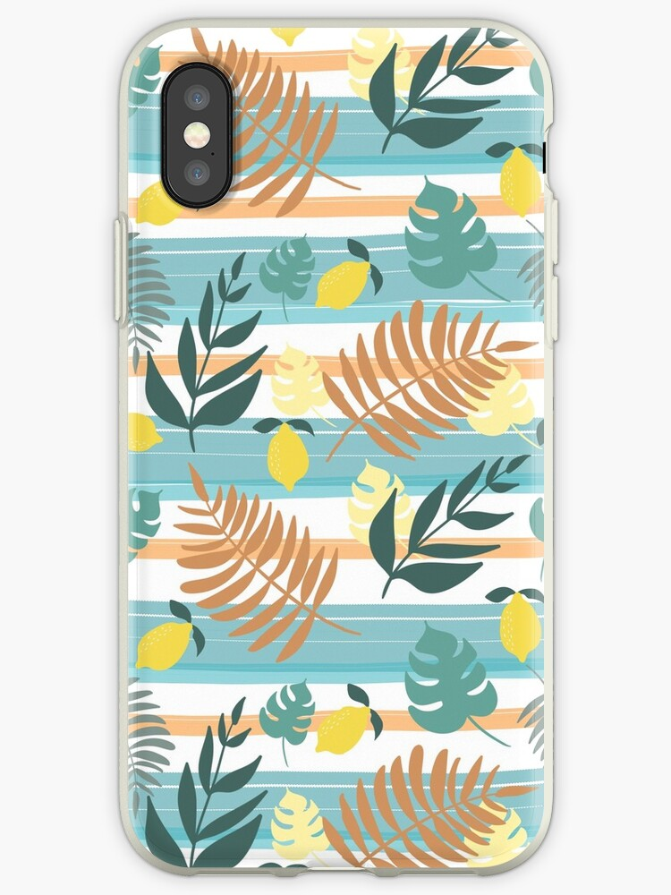 Botanical Collage With Stripes by MathisDesigns