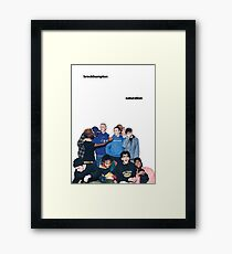BROCKHAMPTON SATURATION Framed Print