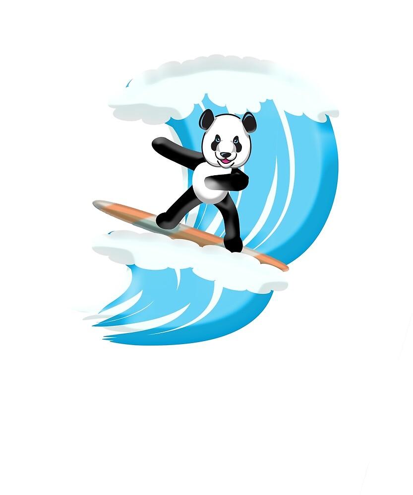Surfing Sport Surfing Dabbing Panda by TeeShirtCo
