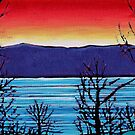 CHARLIE LAKE SUNSET CARD by Alison Newth