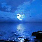 SUPER MOON OVER BLUE HAWAII by WhiteDove Studio kj gordon