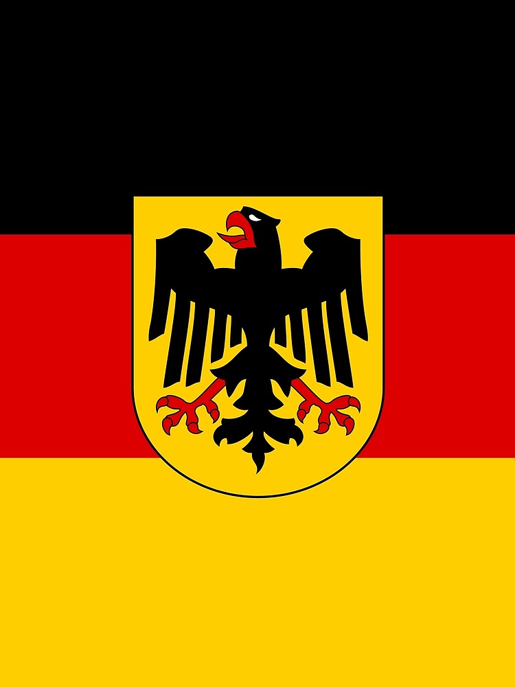 Germany Flag in Bold Colors of Red, Gold and Black by podartist